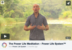 Power Life System meditation video image