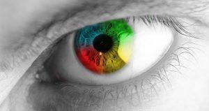 Imágen de ojo concentrado en alcanzar metas personales